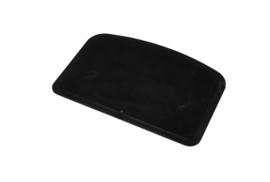 62180116 - Hoogwaardige kleurcode HACCP hygiënische deegschraper 146 x 98 mm zwart