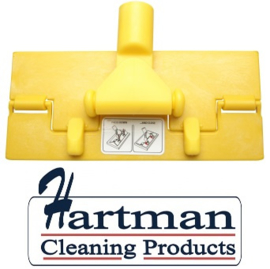 80070101-4 - FBK Vloerpadhouder hoogwaardige kleurcode HACCP hygiënische kunststof vloerpadhouder 230 x 100 mm geel 27101