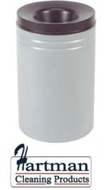 541010 - Safety vlamdover afvalbak grijs 80 liter