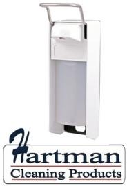 8040 - Zeep- & desinfectiemiddeldispenser wit 1000 ml KB, MediQo-line MQ10P