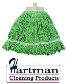 940910 - SYR Kentucky mop 341 gram met geïntegreerde schuurspons syrtex kleurcode groen
