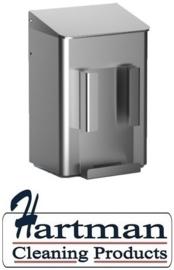 8250 - Hygiëneafvalbak 6 liter RVS + zakjeshouder, MediQo-Line MQWB6HBHE