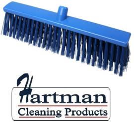 22510134-2 - FBK Hoogwaardige kleurcode HACCP Polyester hygiënische kunststof harde bezem 500 x 60 mm blauw 26190