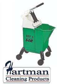 992362 - SYR Sky 3 Combo mobile mopsysteem met geïntegreerde wringer 10 liter kleurcode groen