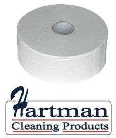 240038 - Euro maxi jumborollen toiletpapier cellulose 2-laags 380 mtr - 6 rol p/pak