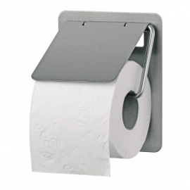 S1411586 - SanTRAL Classic RVS Toiletpapier dispenser. Voor een traditionele toiletrol. Type TRU 1 E. Afmeting 155x130x117 mm