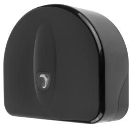 3322 - Jumboroldispenser mini + restrol kunststof zwart