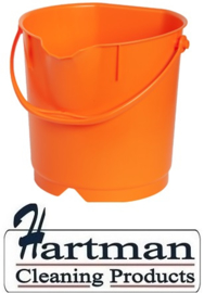 300106102-7 - FBK Emmer hoogwaardige kleurcode HACCP hygiënische polypropyleen 9 liter oranje 80102