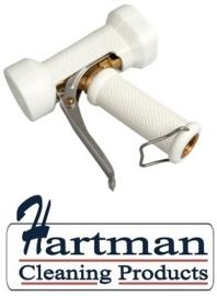 600161024-1 - FBK Waterpistool zwaar model messing 24 bar - tot 95 graden belastbaar wit 0411
