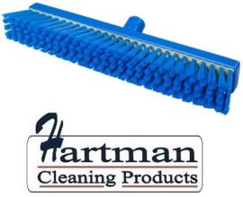700151001-2 - FBK Polyester bezem vezels in hars gegoten kleurcode HACCP 400 mm x 50 mm medium blauw 91136