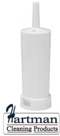 600920 - Toilet borstel kunststof wit gesloten