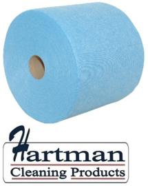 357305 - F-wipe is een hoogwaardige nonwovendoek op rol 500 doeken. Afmeting vel 38 x 30 cm EURO products