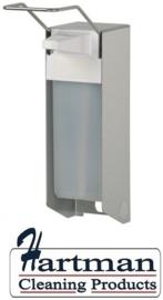 i1408600 - Ingo-man mat RVS zeepdispenser met korte beugel - 1 Liter
