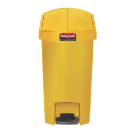 DJ764 - Rubbermaid Slim Jim End Step pedaalemmer geel 30 ltr