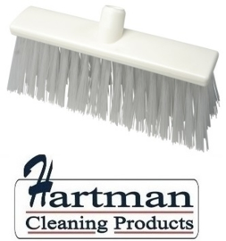 22310132-1 - FBK Hoogwaardige kleurcode HACCP Polyester hygiënische kunststof harde bezem 300 x 60 mm wit 23190