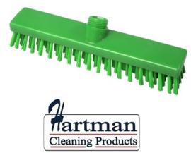 31810101-5 - FBK HACCP kleurcode schrobber met harde vezels geschikt voor hardnekkige reiniging van vloeren en wanden 280 x 50 mm, hard groen 20153
