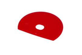 61080115 - Hoogwaardige kleurcode HACCP hygiënische deegschraper 160 x 125 mmrood