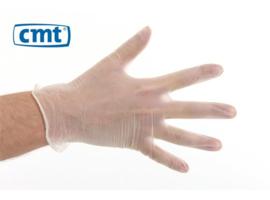 VI100 - CMT vinyl handschoenen, gepoederd, wit, small