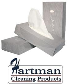140040 - Euro facial tissues, 2-laags cellulose, afmeting 21 x 21 cm, doos 100 stuks