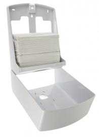 3240 - Handdoekdispenser midi kunststof wit
