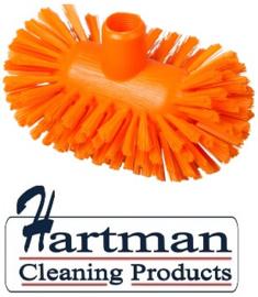 50520108-7 - Hoogwaardige FBK kleurcode HACCP hygiënische polyester medium tankborstel 200 x 120 mm oranje 27134