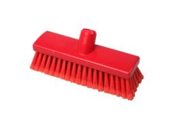 210161010-3 - Inwasborstel waterdoorlatend FBK hoogwaardige kleurcode HACCP FBK hygiënische polyester 225 x 60 mm gespleten vezel zacht rood 22105