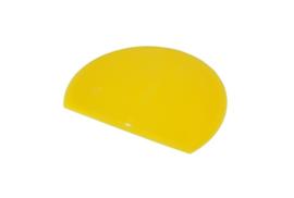 62780117 - Hoogwaardige kleurcode HACCP hygiënische deegschraper 160 x 125 mm geel