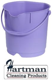 300106102-8 - FBK Emmer hoogwaardige kleurcode HACCP hygiënische polypropyleen 9 liter paars 80102