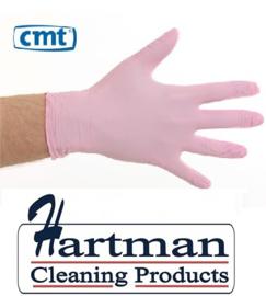1403 - CMT soft nitril handschoenen poedervrij Large roze 10 x 100 stuks