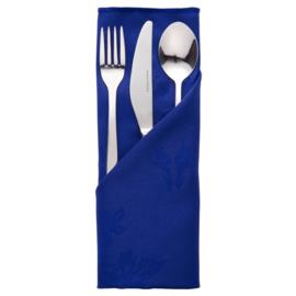 CE621 - Servet blauw polyester - per 10 stuks.