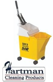 992348 - SYR Mobile mopsysteem met geïntegreerde wringer 8 liter kleurcode geel