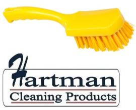 31430112-4 - FBK Handborstel kleurcode HACCP hoogwaardig harde vezel, 275 x 70 mm geel 10548