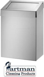 13075 - Afvalbak 20 liter gesloten RVS, AC BB 20 E Dutch Bins