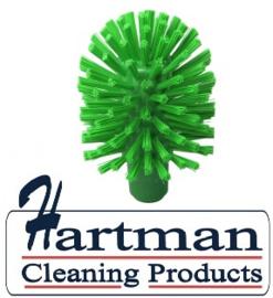 41820105-5 - Hoogwaardige FBK kleurcode HACCP hygiënische kunststof medium wormhuisborstel Ø 105 mm groen 27152