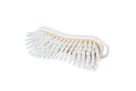 129151013-1 - Polyester handborstel vezels in hars gegoten kleurcode HACCP 210 mm x 70 mm hard wit 95063