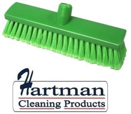 200161007-5 - Inwasborstel waterdoorlatend FBK hoogwaardige kleurcode HACCP FBK hygiënische polyester 300 x 60 mm gespleten vezel zacht groen 24106