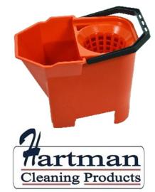 950899 - SYR Mopemmer met handgreep en zeef 7 liter kleurcode rood HACCP