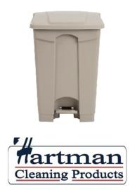 GH637  - Jantex beige pedaal afvalbak 45Ltr