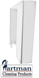 DE982 - Bolero kuchscherm met betalingsuitsparing - 750(H) x 700(B) x 3(D)mm. Uitsparing: 300(W) x 150(H)mm. Acryl.