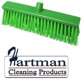 22410133-5 - FBK Hoogwaardige kleurcode HACCP Polyester hygiënische kunststof harde bezem 400 x 60 mm groen 25190