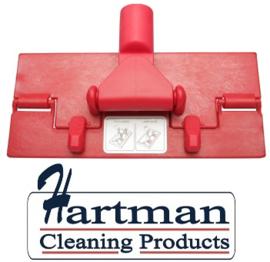80070101-3 - Vloerpadhouder hoogwaardige kleurcode HACCP hygiënische kunststof vloerpadhouder 230 x 100 mm rood 27101