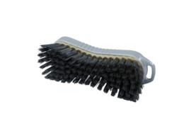 129151013-11 - Polyester handborstel vezels in hars gegoten kleurcode HACCP 210 mm x 70 mm hard grijs 95063