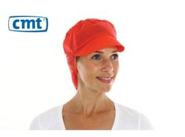 816169 - CMT PPnw pet met klep en haaropvang rood 'snood cap