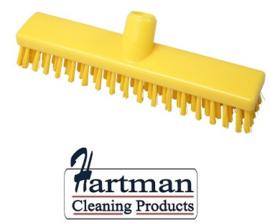 32510104-4 - FBK HACCP kleurcode schrobber met harde vezels geschikt voor hardnekkige reiniging van vloeren en wanden 300 x 60 mm, hard, geel 23153