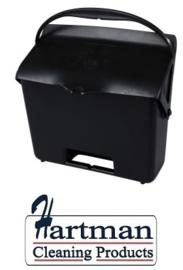 410101104-6 - FBK Hotelstofblik met handgreep hoogwaardige kleurcode hygiënische polypropyleen zwart 80205