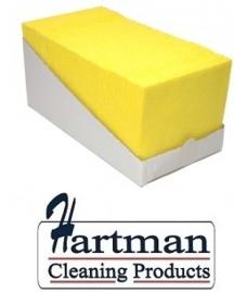 P42007 - Sopdoek geel 140 gr/m2, a kwaliteit pluisarme doek Doos a 65 doeken