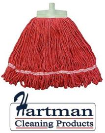 940898 - SYR Kentucky mop 341 gram met geïntegreerde schuurspons syrtex kleurcode rood