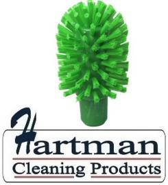 40120103-5 - FBK Hoogwaardige kleurcode HACCP hygiënische kunststof medium wormhuisborstel Ø 80 mm groen 27132