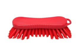 22030126-3 - FBK Polyester werkborstel kleurcode HACCP 210 mm x 70 mm harde vezel rood 10565