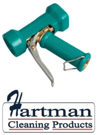 600161024-5 - FBK Waterpistool messing zwaar model 24 bar - tot 95 graden belastbaar groen 0411